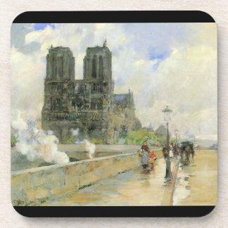 Childe Hassam - catedral de Notre Dame 1888 Posavasos