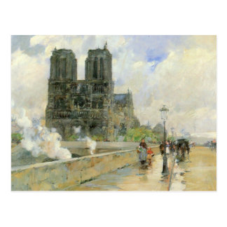 Childe Hassam - catedral de Notre Dame 1888 Postales