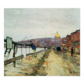 Childe Hassam - Charles River und Beacon Hill Poster