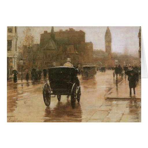 Childe Hassam - Columbus Avenue Stationery Note Card