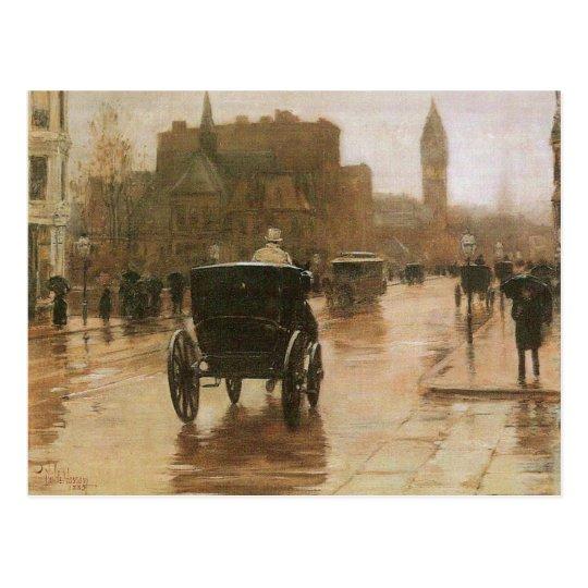 Childe Hassam - Columbus Avenue Postcard