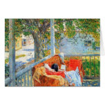 Childe Hassam - Couch and Veranda at Cos Cob Greeting Card