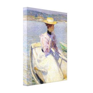 Childe Hassam - Dory blanco Gloucester Impresión En Lienzo