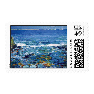 Childe Hassam - Duck Island From Appledore Postage Stamps
