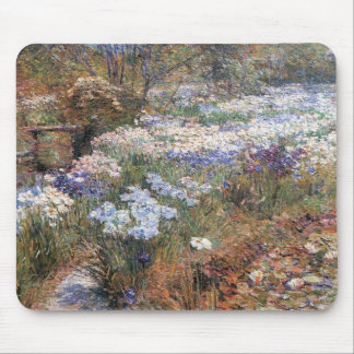 Childe Hassam - el jardín del agua Mousepads