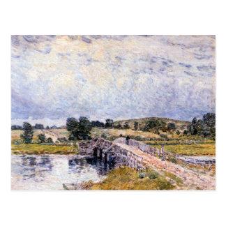 Childe Hassam - el puente de Lyme viejo Tarjetas Postales