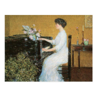 Childe Hassam - en el piano Tarjetas Postales