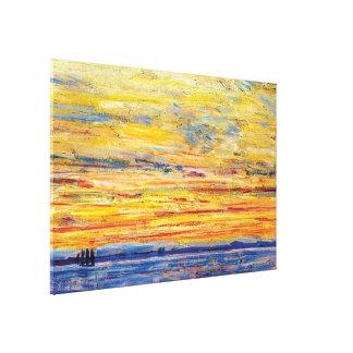 Childe Hassam - Evening Canvas Print
