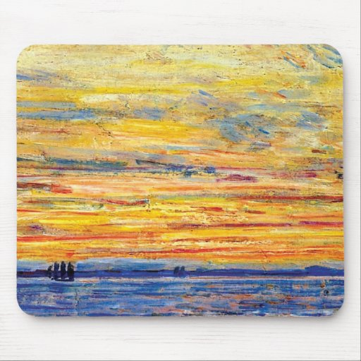 Childe Hassam - Evening Mouse Pad