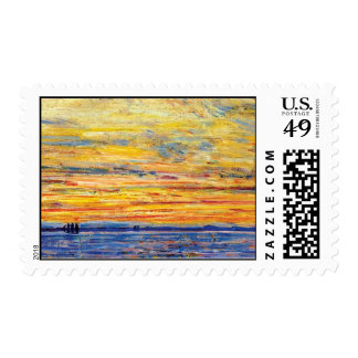 Childe Hassam - Evening Postage Stamps