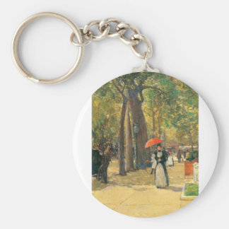 Childe Hassam - Fifth Avenue and Washington Square Keychain