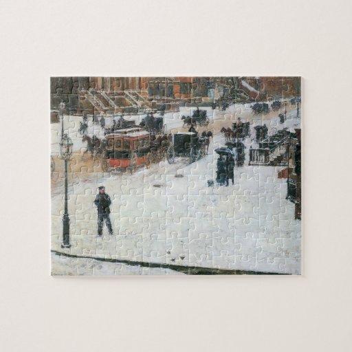 Childe Hassam - Fifth Avenue in Winter Puzzle
