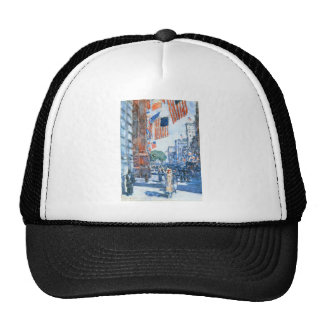Childe Hassam - Flags Fifth Avenue Mesh Hats