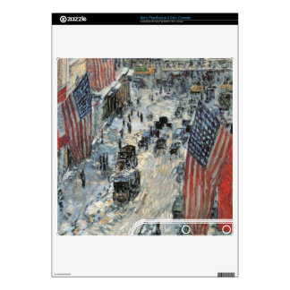 Childe Hassam - Flags on Fifth Avenue Winter 1918 PS3 Slim Console Decal