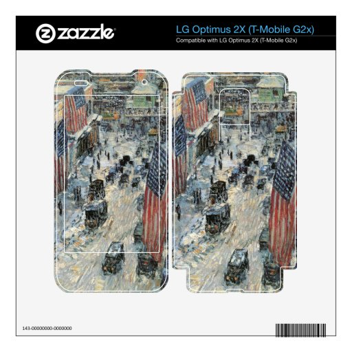 Childe Hassam - Flags on Fifth Avenue Winter 1918 Decals For LG Optimus 2X