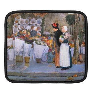 Childe Hassam - Florists iPad Sleeve