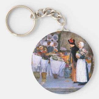 Childe Hassam - Florists Key Chains