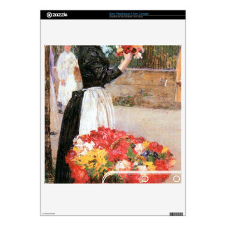 Childe Hassam - Flower girl PS3 Slim Console Decals