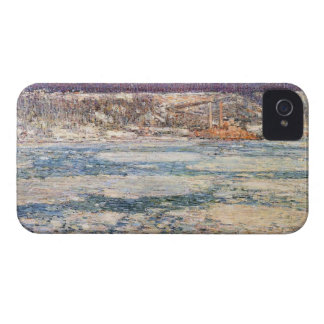 Childe Hassam - hielo en el río Hudson iPhone 4 Case-Mate Protector
