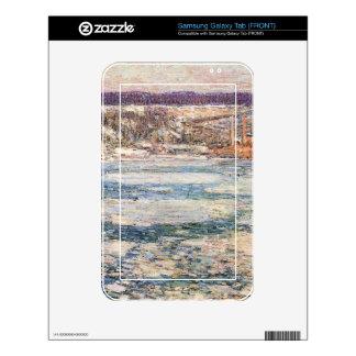 Childe Hassam - hielo en el río Hudson Samsung Galaxy Tab Skins