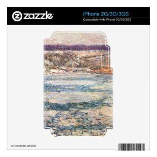 Childe Hassam - hielo en el río Hudson Skins Para eliPhone 3GS