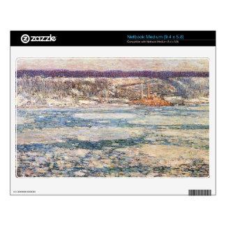 Childe Hassam - hielo en el río Hudson Netbook Skin