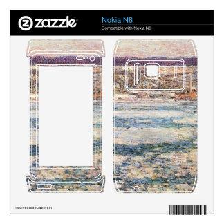 Childe Hassam - hielo en el río Hudson Skin Para El Nokia N8