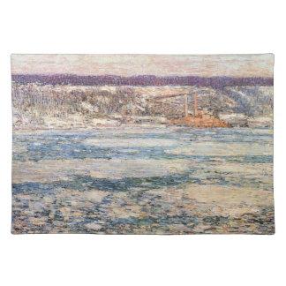 Childe Hassam - hielo en el río Hudson Mantel