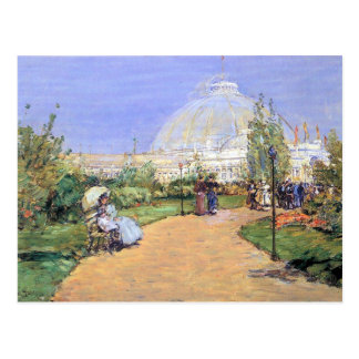 Childe Hassam - House of gardens Worlds Columbian Postcard