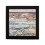 Childe Hassam - Ice on the Hudson River Gift Box