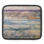 Childe Hassam - Ice on the Hudson River Sleeve For iPads