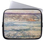 Childe Hassam - Ice on the Hudson River Computer Sleeves
