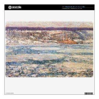 """Childe Hassam - Ice on the Hudson River Skins For 11"""" MacBook Air"""