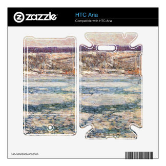 Childe Hassam - Ice on the Hudson River Decal For HTC Aria