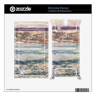 Childe Hassam - Ice on the Hudson River Skins For Motorola Devour