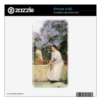 Childe Hassam - In the garden Skin For iPhone 4