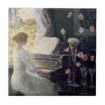 Childe Hassam - la sonata Azulejo Cerámica