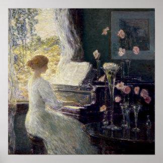 Childe Hassam - la sonata Póster