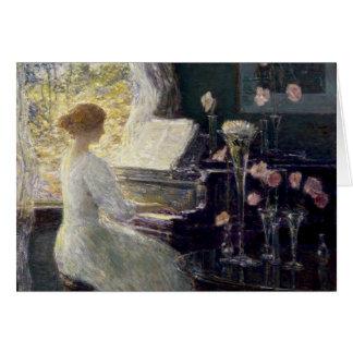 Childe Hassam - la sonata Tarjeta De Felicitación