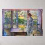 Childe Hassam - la ventana del Goldfish Impresiones