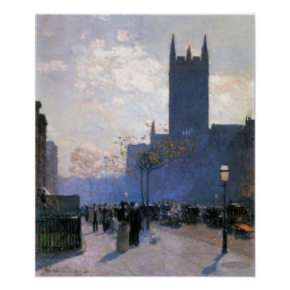 Childe Hassam - Lower Fifth Avenue Poster