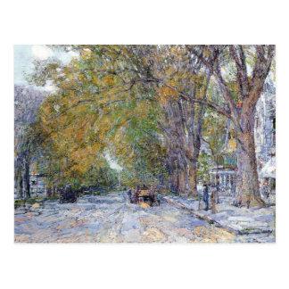 Childe Hassam - Main Street East Hampton Postcard