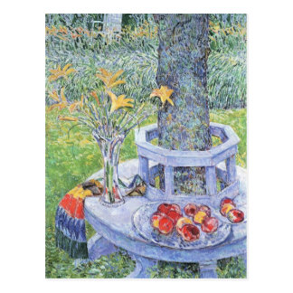 Childe Hassam - Mrs Hassams Garten in East Hampton Postcard