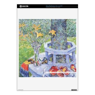 Childe Hassam - Mrs Hassams Garten in East Hampton PS3 Slim Console Skins