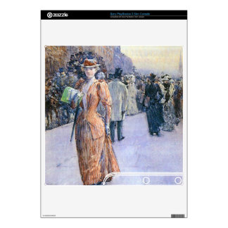 Childe Hassam - New York street scene PS3 Slim Decals