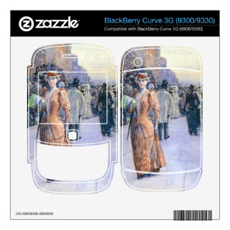 Childe Hassam - New York street scene BlackBerry Curve Skin