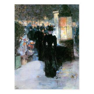 Childe Hassam - Nocturne de París Postal