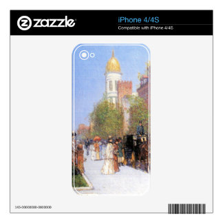 Childe Hassam - One spring morning Decal For iPhone 4