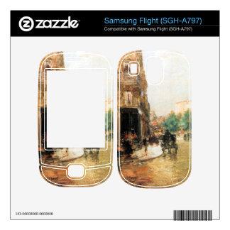 Childe Hassam - Parisian street scene Samsung Flight Skins