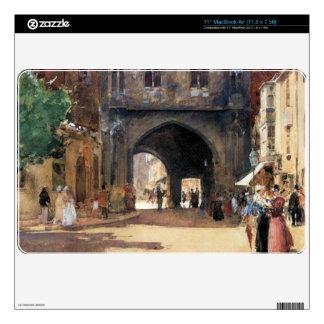 Childe Hassam - Passage in Canterbury MacBook Decal